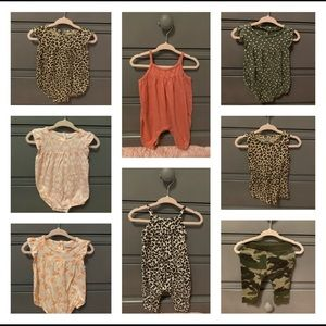Lot of baby girl 3-6 months old navy clothes EUC